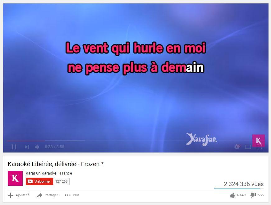 Utilisez le mod karaoké sur youtube - astucesenligne.fr