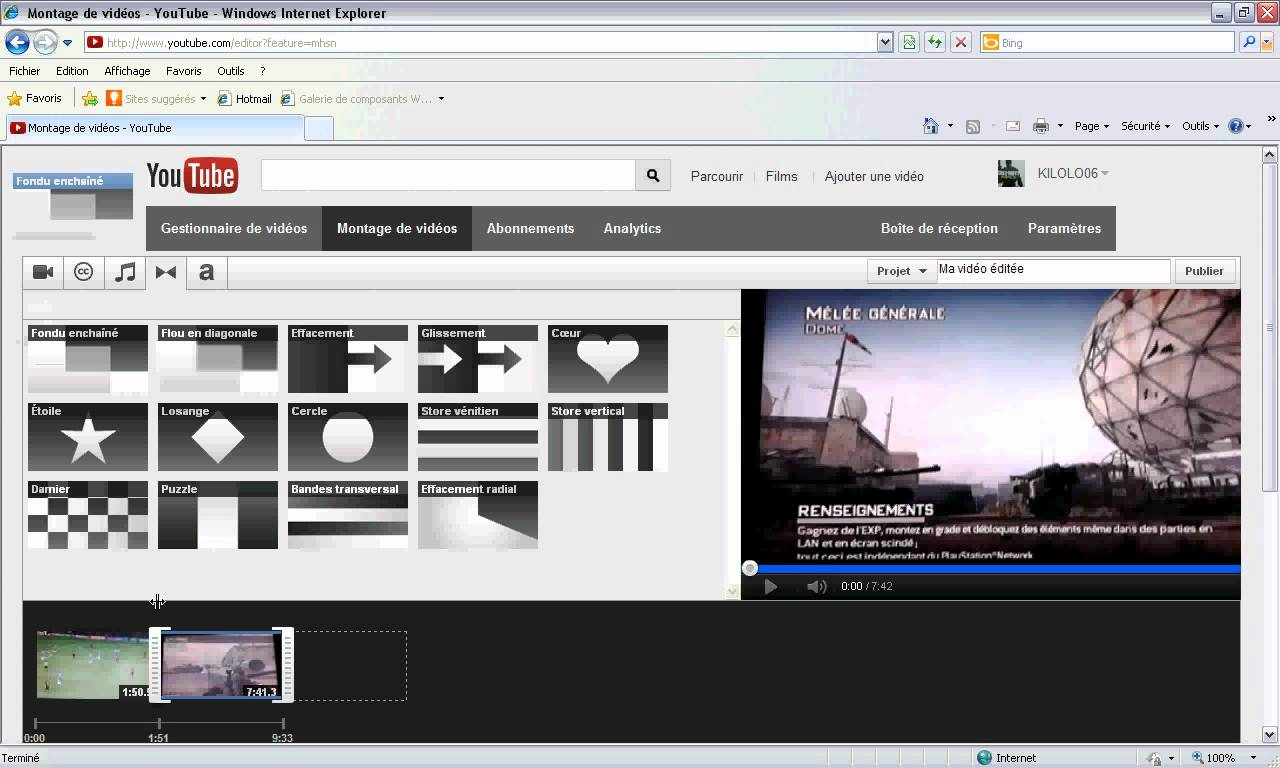 montage vidéo via youtube - astucesenligne.fr